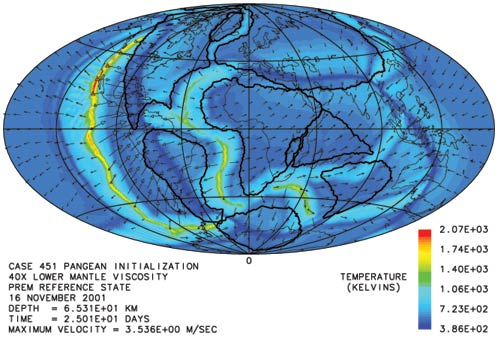The breakup of Pangea in the Catastrophic Plate Tectonics model of the Flood.